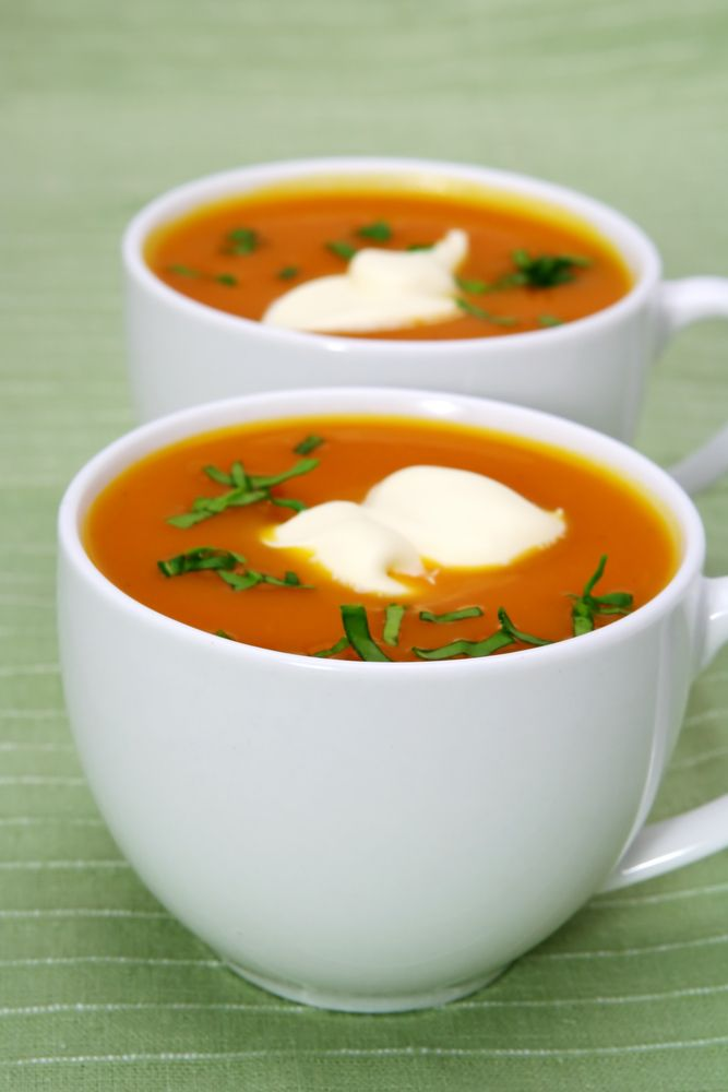 recept pompoensoep koriander