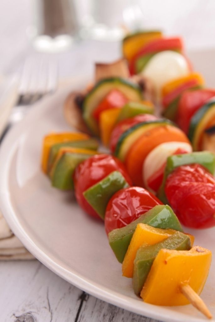 Gemarineerde groentebrochetten met tonijn