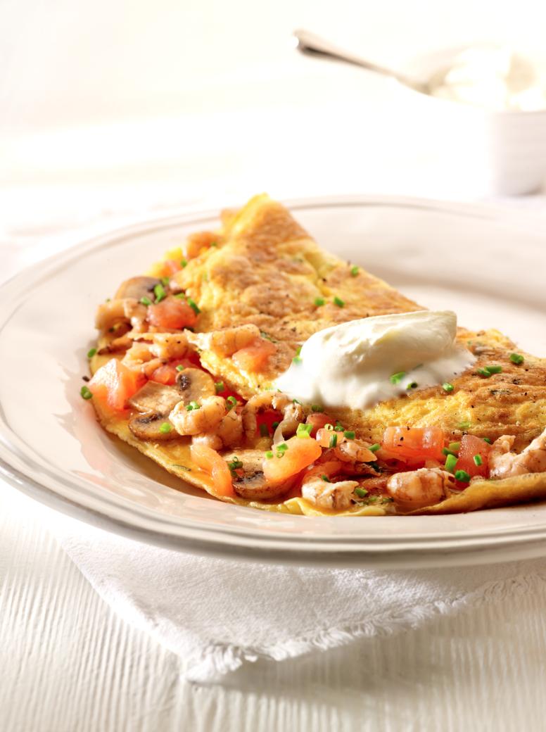 omelet champignons recept