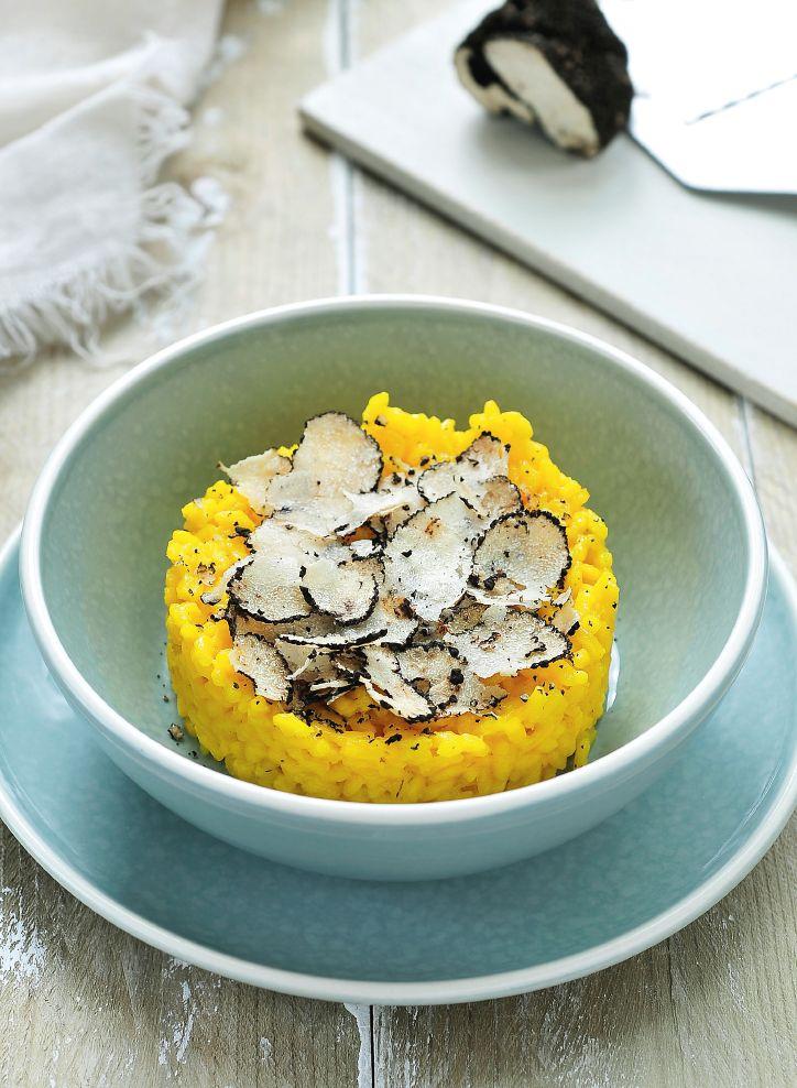 Risotto met saffraan en truffel