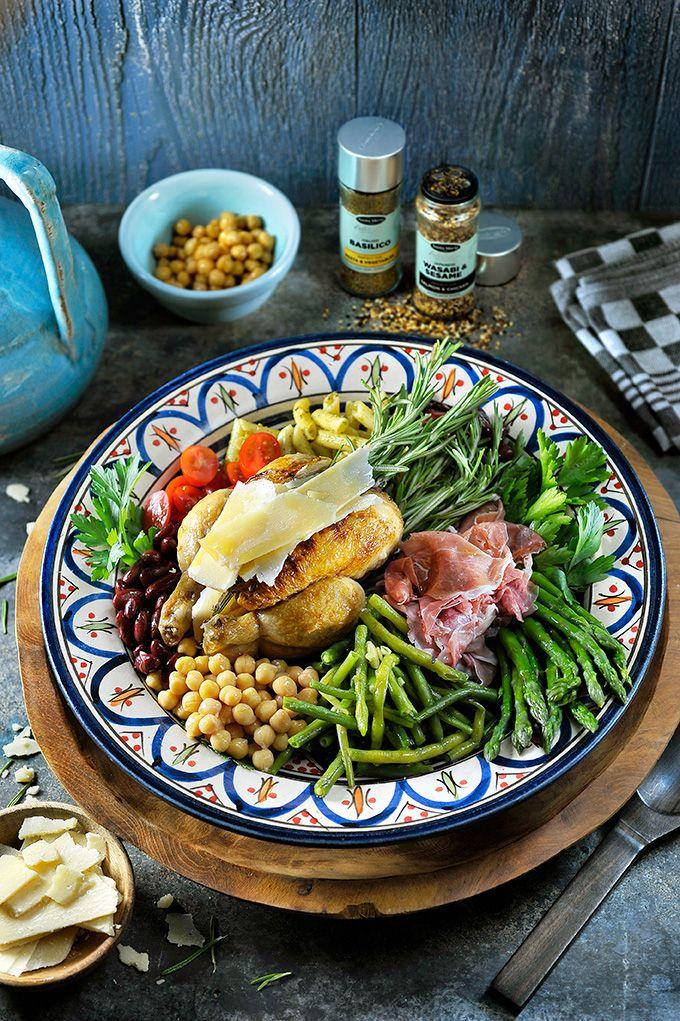 Halve haantjes op de BBQ met een Abruzzi-salade