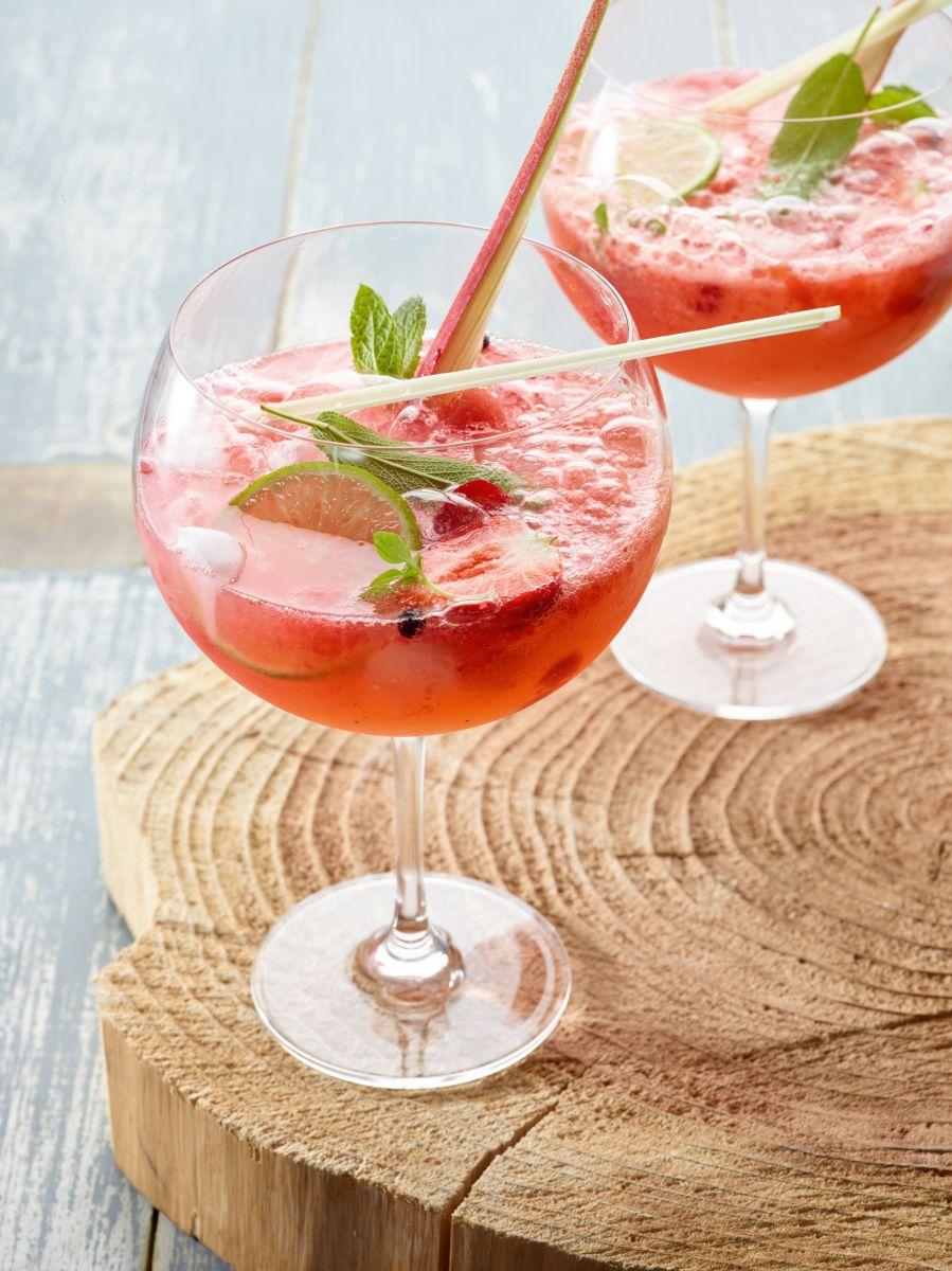 Gin-tonic met aardbeien