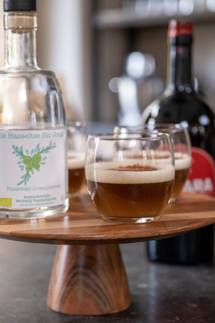 Koffiecocktail met jenever