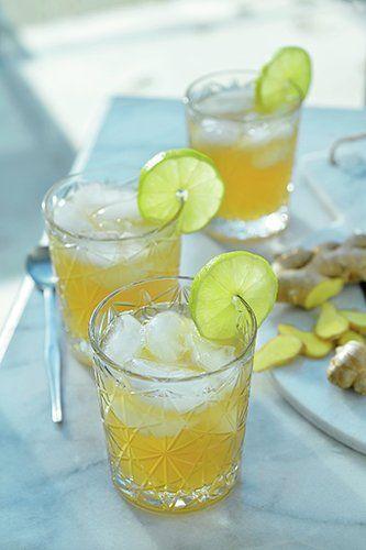 Gember-limoen iced tea