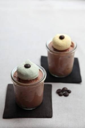 Mousse van bittere chocolade