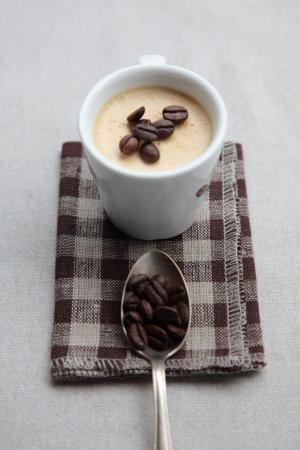 Panna cotta met espresso