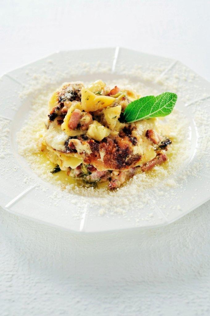 Lasagne met savooikool en aardappel