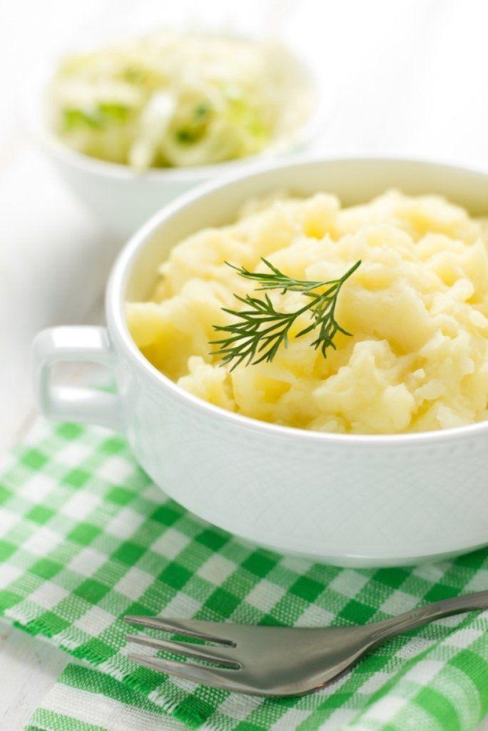 Puree van gegrilde aardappelen