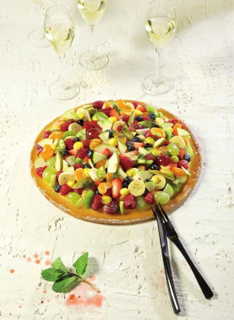 Pizza tutti frutti met zoet fruit