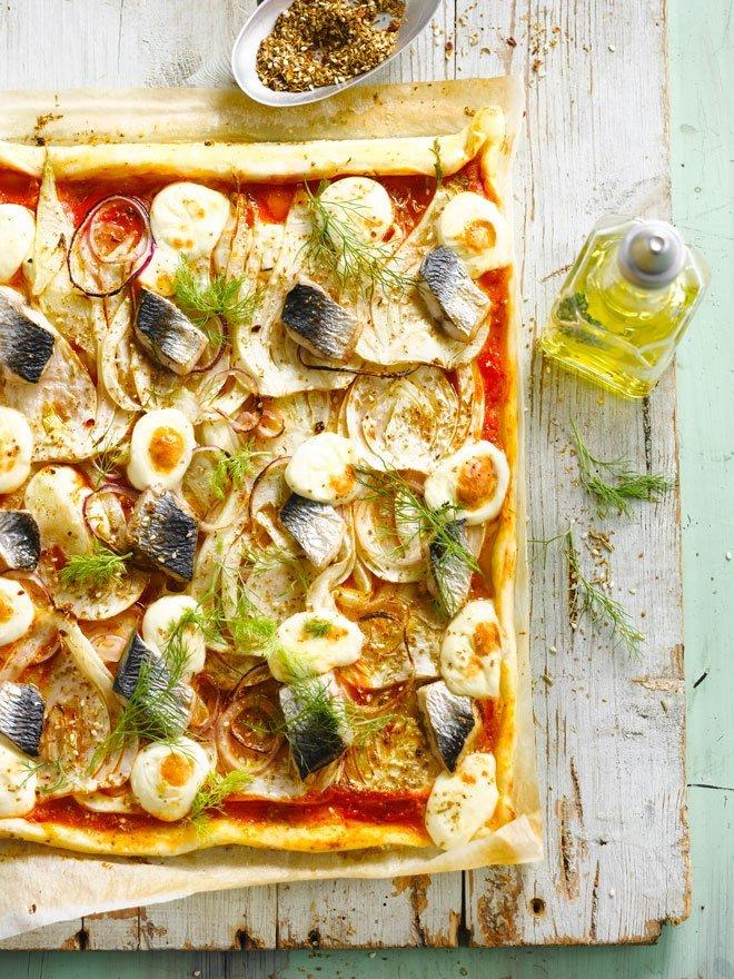 Venkelpizza met haring
