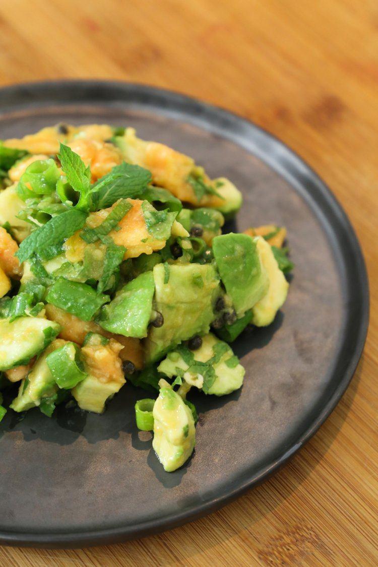 Papaya salade met munt