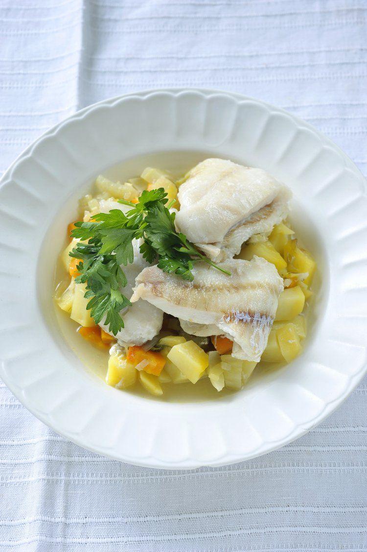 Snel stoofpotje met groenten en vis