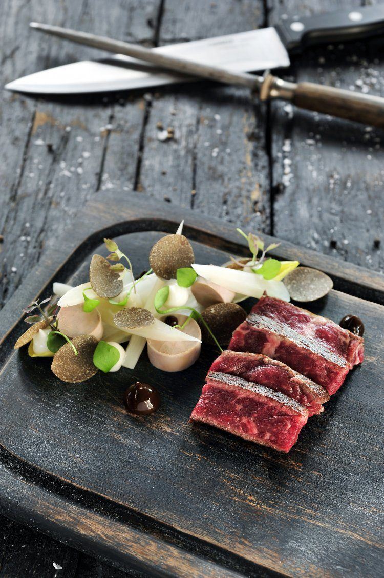 Steak Rossini met schorseneren en truffel