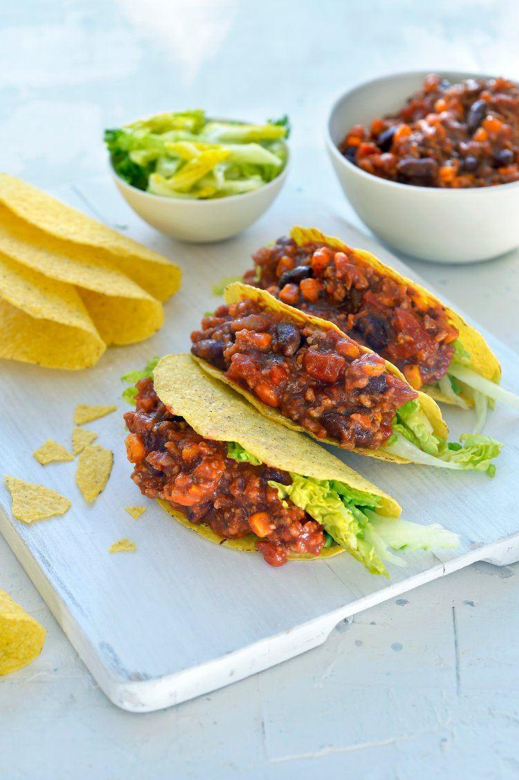 Taco's con carne