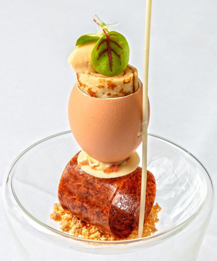 """""""Surprise"""" van Parmaham met eieren"""