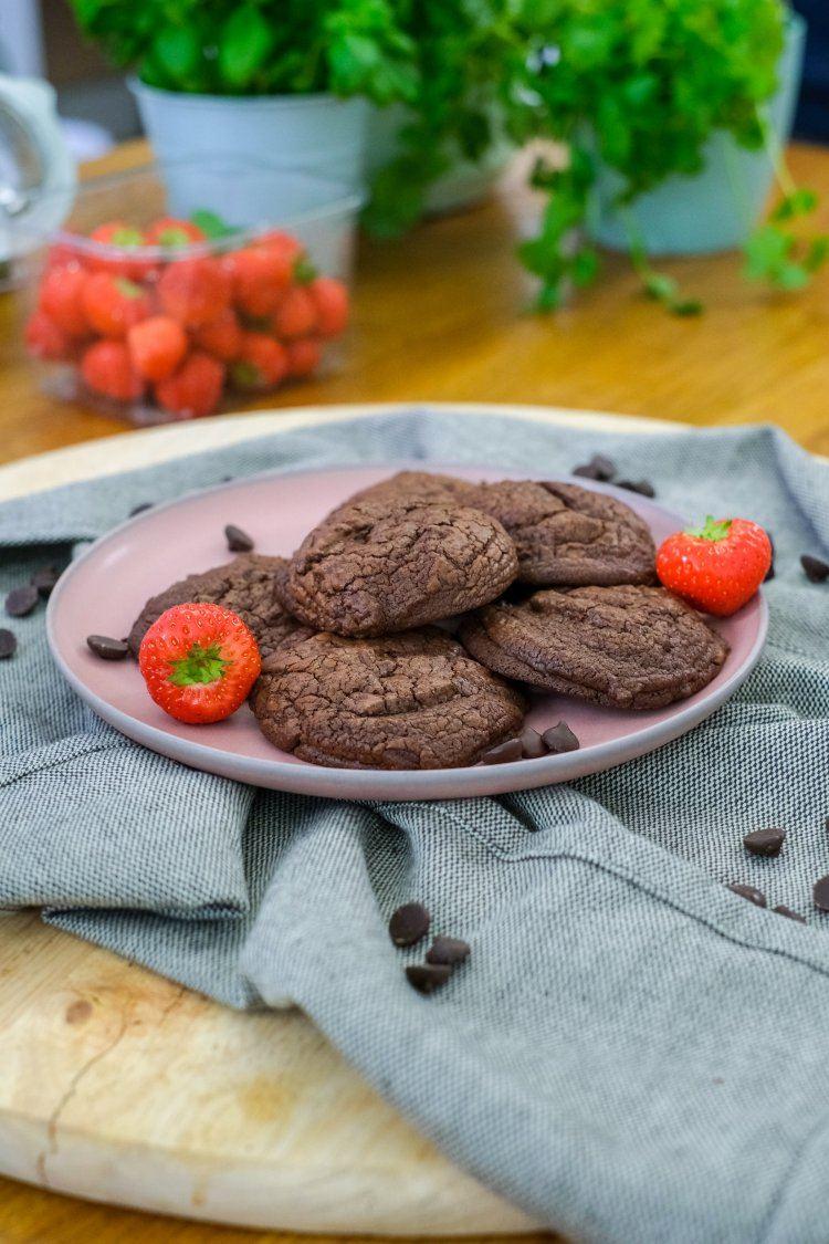 Zachte chocolade fudge koekjes