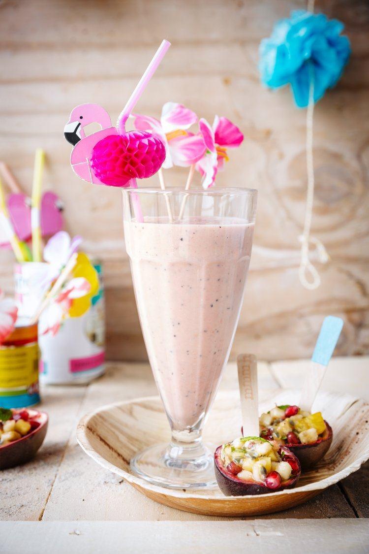Tropische milkshake & Fruitsalade