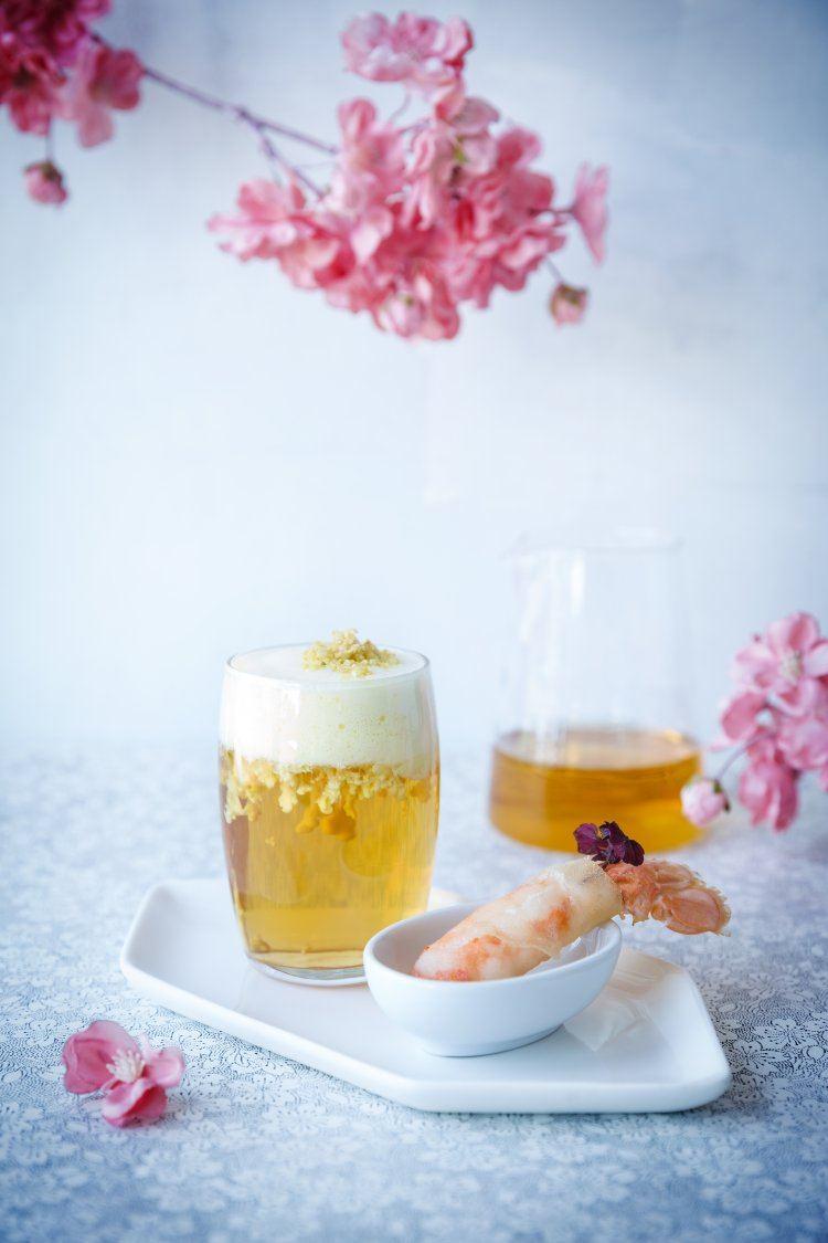 Liquid Geisha & Langoustinestaarten à la plancha