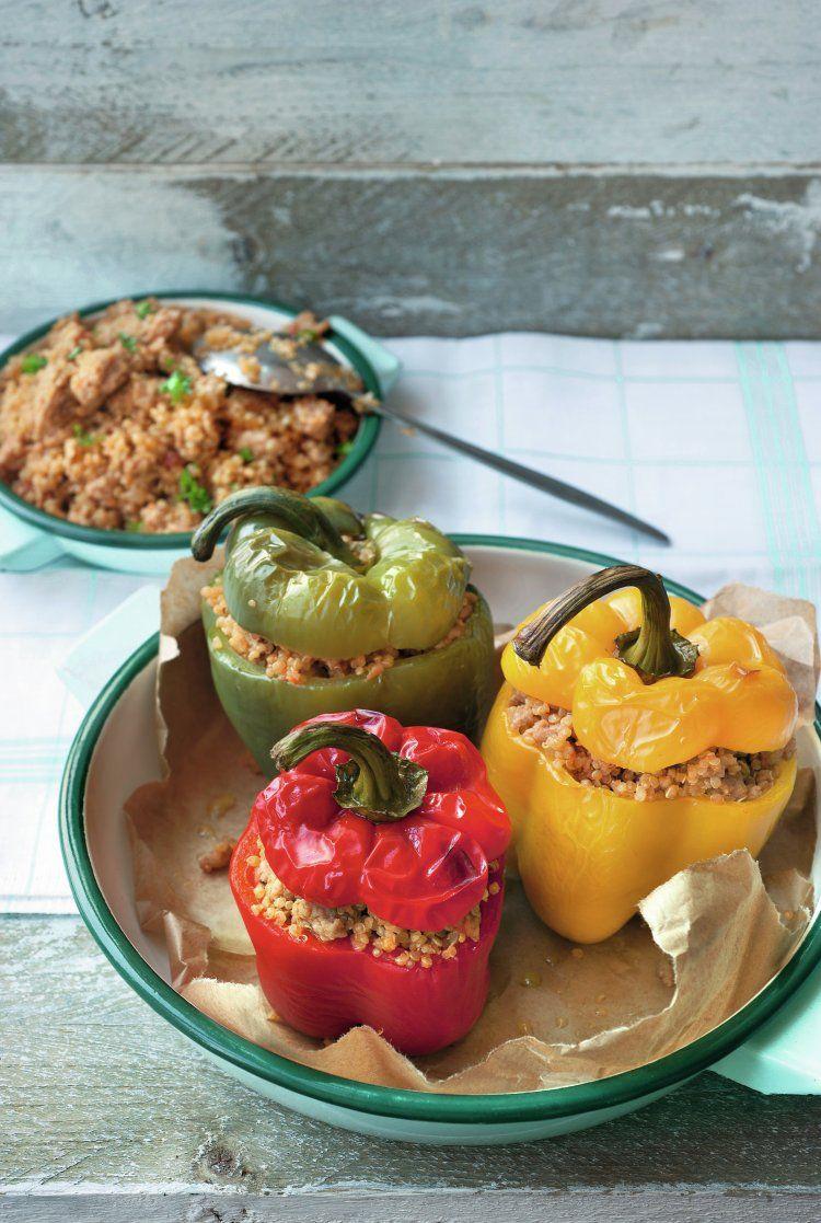 Gevulde paprika met kippengehakt en quinoa