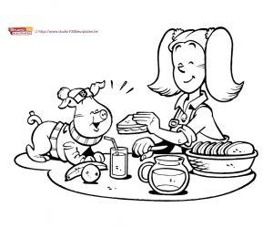 Kleurplaat 12: Big en Betsy
