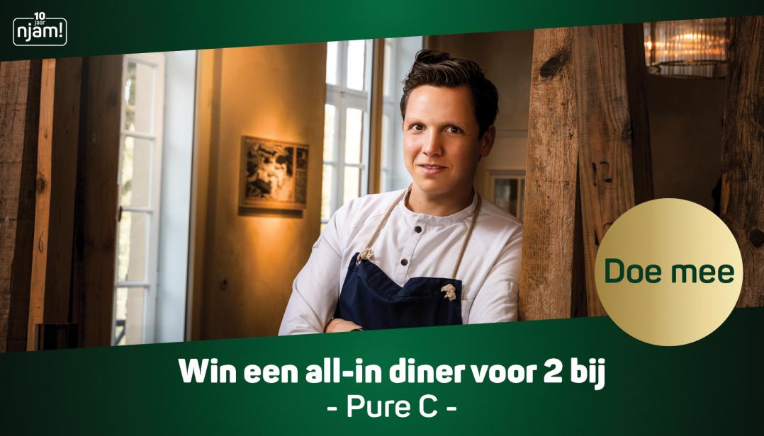 Win een all-in diner voor 2 personen bij Pure C