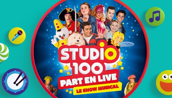 Parfait panier à cadeaux rêvés : 4 places pour Studio 100 part en live à Liège