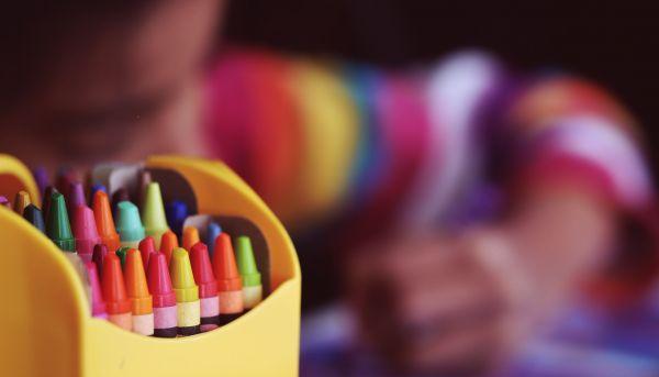Bumba inkleuren met de 5 kleurstiften challenge.